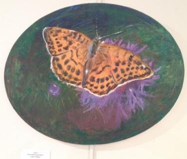 fjäril, akryl 30x 24cm